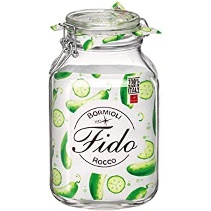 0810454 Bocal Hermétique En Verre Fido, 3L, Transparent