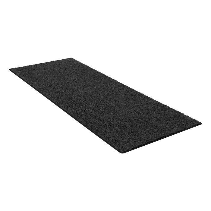 Tapis de Couloir Shaggy 67x180cm, OHIO - Gris Foncé - Carpet Studio
