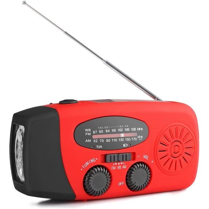 RADIO CD - RADIO CASSETTE - FM AOZBZ Radio Solaire Portable, Main Manivelle Self Powered AM-FM-NOAA Radio, Dynamo M&eacutet&eac85