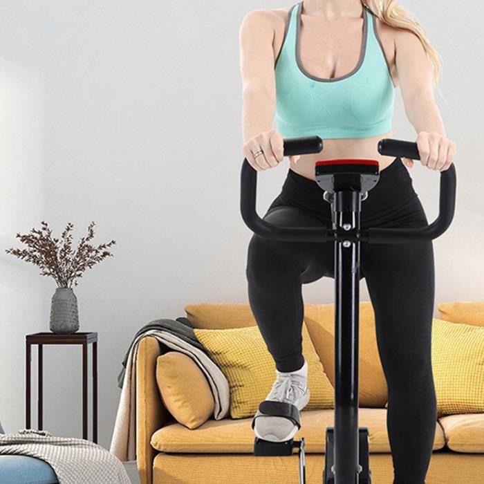 Un vélo d'exercice de santé pliable et pratique à la maison (noir), exercice d'aérobic à domicile