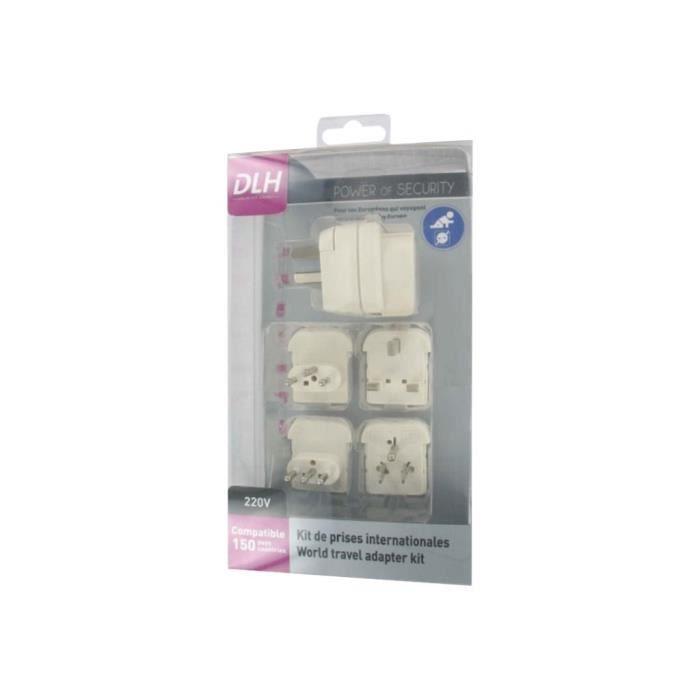 Dlh Kit adaptateur de connecteur d'alimentation Blanc