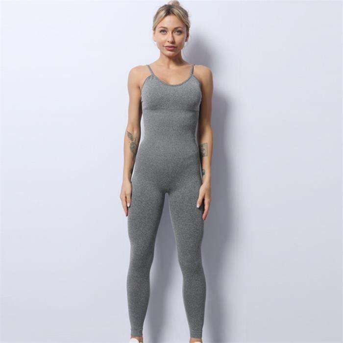 SURVETEMENT Femme - Combinaison de yoga une pièce haute élastique Summer Sling - Gris GT™
