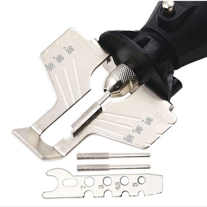 Outil de meulage de tronçonneuse spécial Kit de dents d'affûtage de chaîne Affûteuse de tronçonneuse Accessoires pour outils
