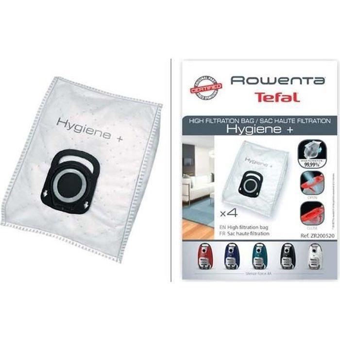 lot de 4 sacs hygiene+ aspirateur silence force rowenta ZR200520