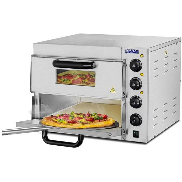 Four A Pizzas Tarte Electrique 2 Chambres Cuisson Fond Pierre Resistante 3000W