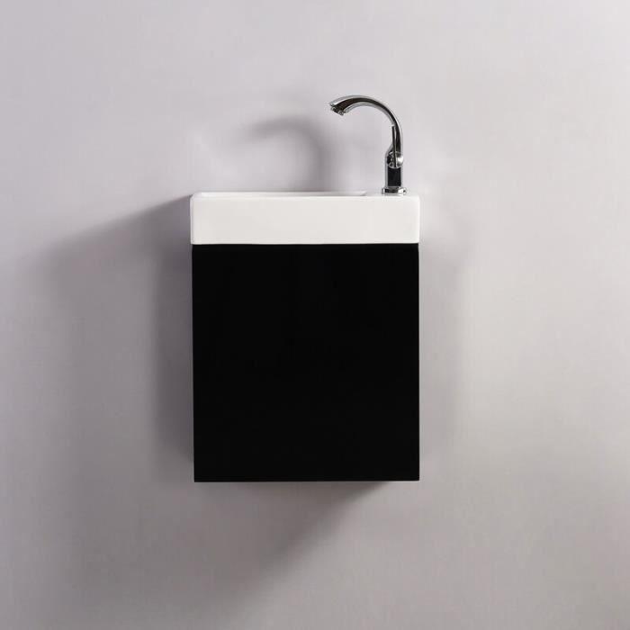 Meuble Lave main - Noir - Dark - 38x14 cm - Minimalist