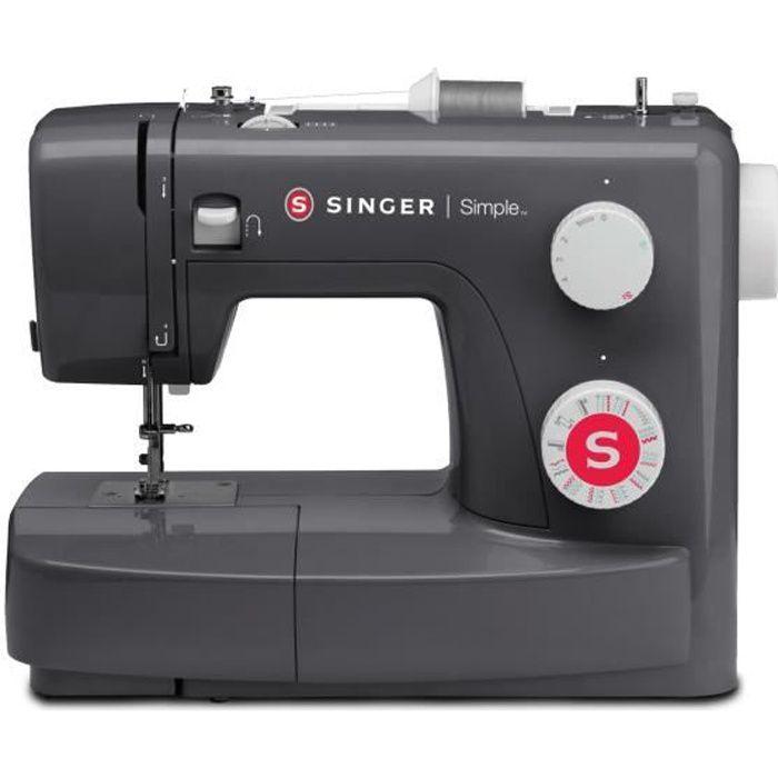 SINGER Machine à coudre SIMPLE 3223 - 23 programmes de points - Gris