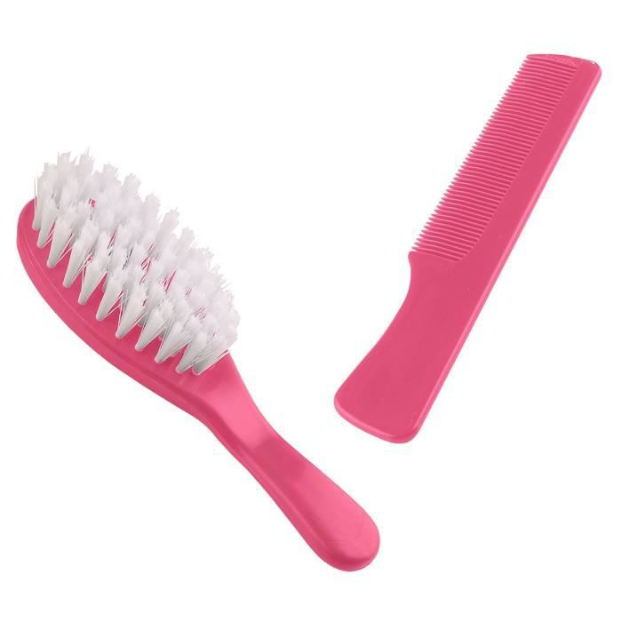 THERMOBABY Lot Brosse et Peigne Rose Bonbon