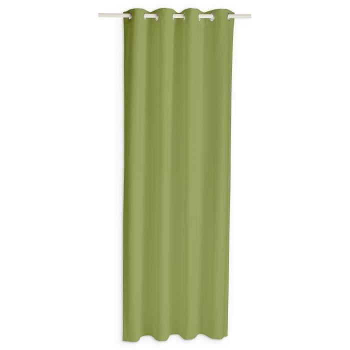 TODAY Rideau occultant à œillets - 140 x 260 cm - Vert bambou