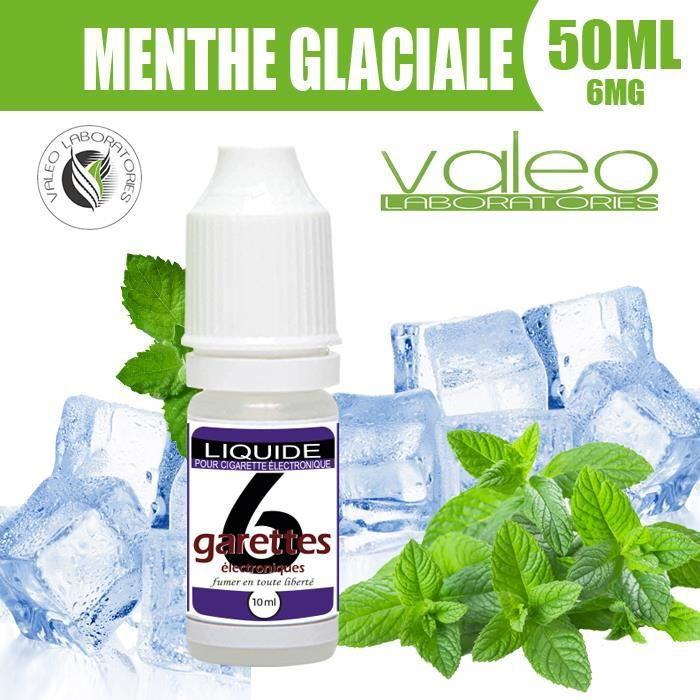 E LIQUIDE 50ML – MENTHE GLACIALE 6mg DE NICOTINE - 6GARETTES