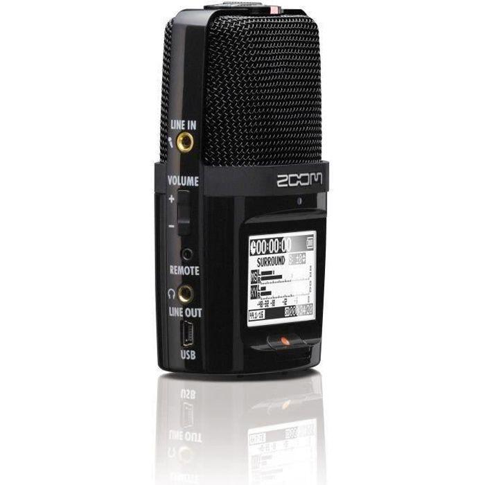 Zoom H2n Enregisteur numérique 4 pistes (2 stéréo) - 5 capsules micros offrant un enregistrement en mode MS ou en mode