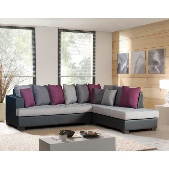 bordeaux gris anthracite prune noir canap d 39 angle droit achat vente canap sofa divan. Black Bedroom Furniture Sets. Home Design Ideas