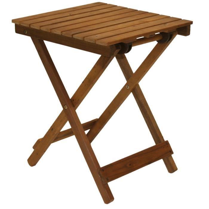 Petite table carre de jardin