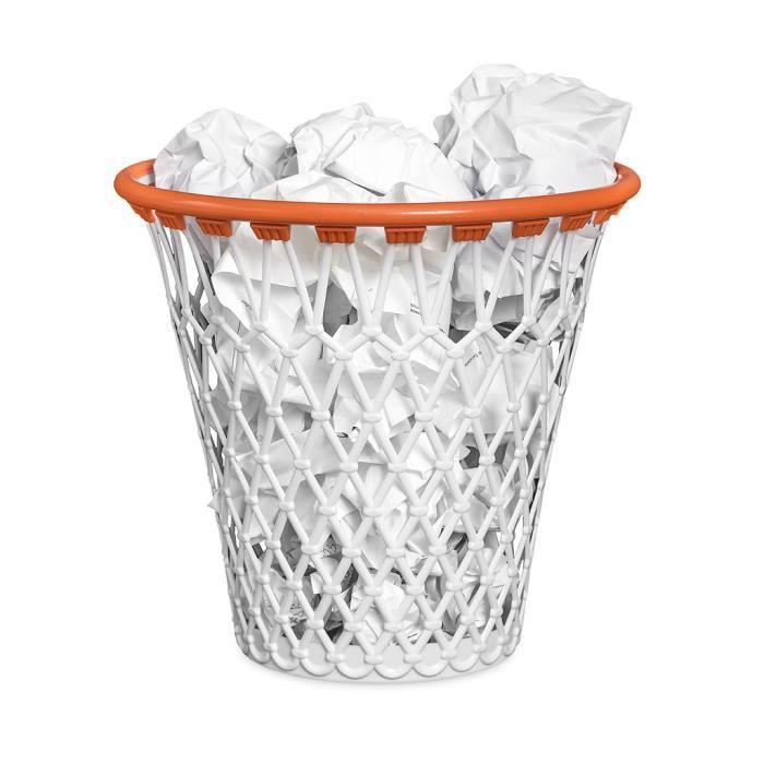 MISTER GADGET Panier de Basket pour Corbeille Blanc