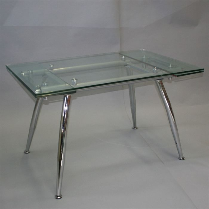 table en verre rallonges cristal achat vente table a. Black Bedroom Furniture Sets. Home Design Ideas