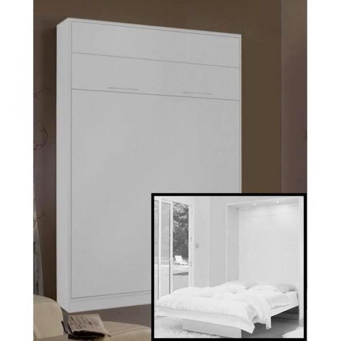 armoire lit escamotable space couchage 140cm pr achat vente lit escamotable soldes. Black Bedroom Furniture Sets. Home Design Ideas
