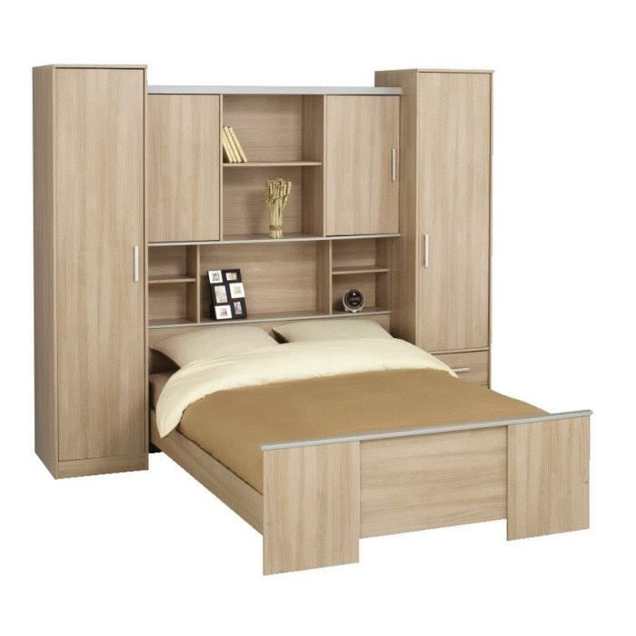 lit pont bianca achat vente lit combine lit pont bianca cdiscount. Black Bedroom Furniture Sets. Home Design Ideas