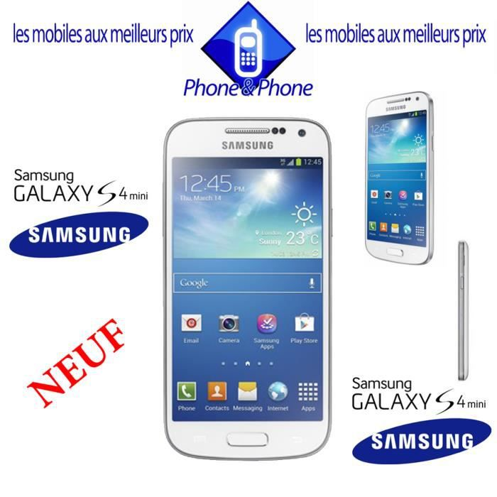 samsung galaxy s4 mini blanc i9195 neuf debloque achat. Black Bedroom Furniture Sets. Home Design Ideas