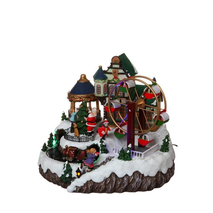 Village de noel led anim achat vente d coration de for Achat decoration de noel