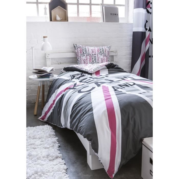 today best flag parure de couette enfant keep calm 1 housse de couette 140x200cm 1 taie. Black Bedroom Furniture Sets. Home Design Ideas