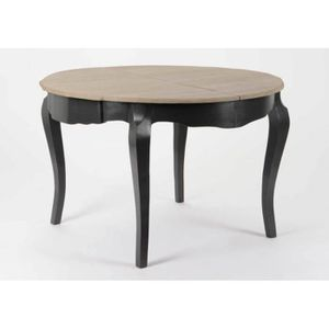 Table ronde avec rallonges achat vente table ronde for Table a manger 160 cm avec rallonge