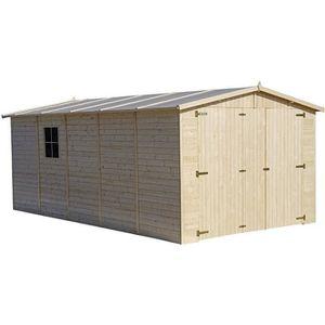 GARAGE GARAGE en sapin FSC brut – Ep.19 mm – 15 m²