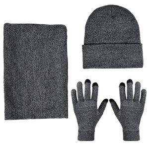 BONNET - CAGOULE Ensemble bonnet, écharpe et gants d'hiver pour hom