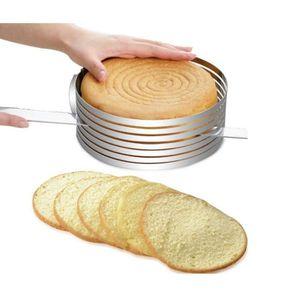MOULE  Coupe-Gâteaux Cercle Réglable Trancheuse Couteaux