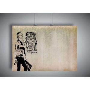 AFFICHE - POSTER Poster BANKSY STREET ART GRAFFITI Wall Art V2 - A4