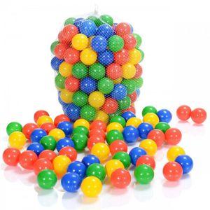 BALLE - BOULE - BALLON 100 pièces balles Colorées plastique de piscine po