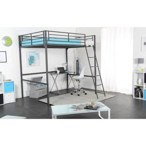 lit adulte achat vente lit adulte pas cher cdiscount. Black Bedroom Furniture Sets. Home Design Ideas