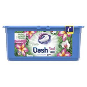 LESSIVE Dash Lenor 3en1 Pods Fleurs De Frangipanier et Man