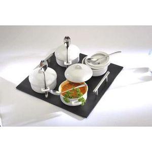 RAMEQUIN - RAVIER Coffret 4 mini marmites avec plateau