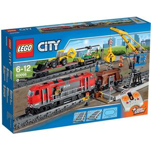 ASSEMBLAGE CONSTRUCTION LEGO® City 60098 Le Train de Marchandises rouge
