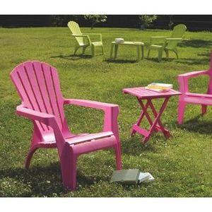 Lot 4 fauteuils en plastique rose DOLOMITE - Achat / Vente ...