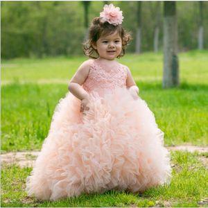 ROBE Bébé fille élégante train dentelle habille des enf