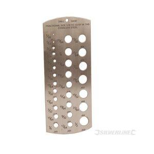 Silverline 598570 Jauge /à trous 1-13 mm
