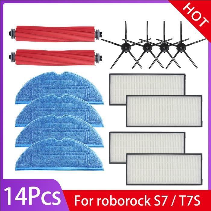 Set 01 - Station d'accueil de Charge pour nettoyeur Roborock S7 T7 T7plus, accessoires, brosse latérale princ