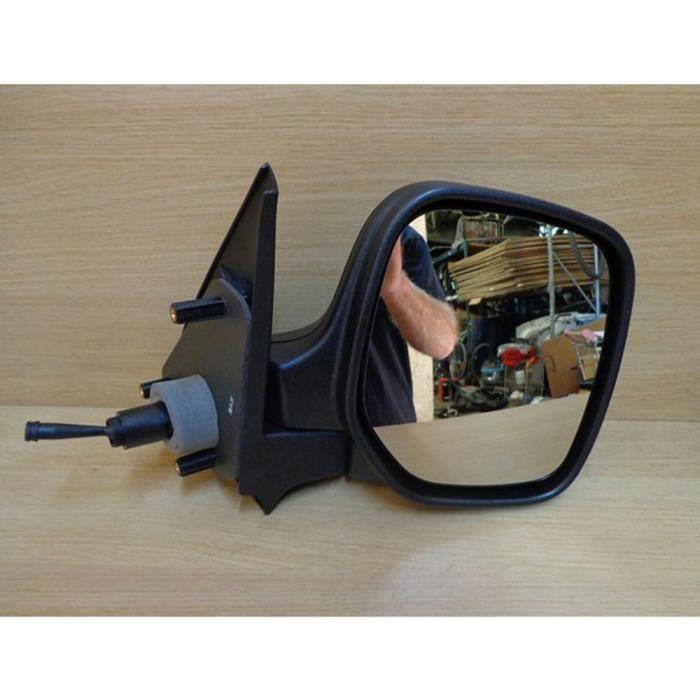 Rétroviseur droit réglage manuel Noir passager, Citroen Berlingo 10/96 à 03/08