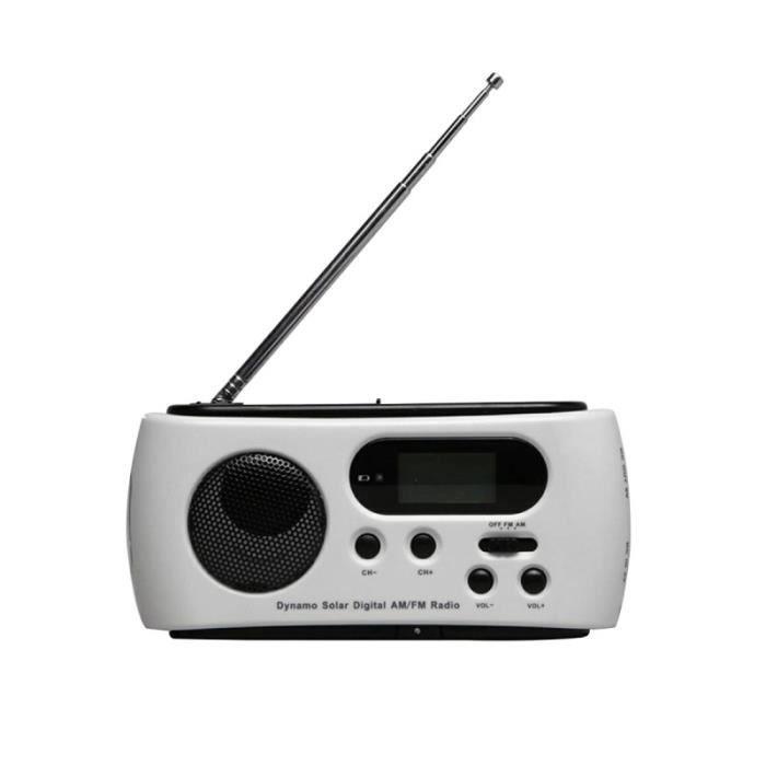 Radio de camp solaire de manivelle de secours AM FM avec port de sortie USB pour lampe de poche à DEL CD PLAYER - RADIO - BOOMBOX