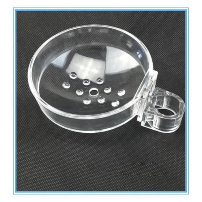 Porte-savon de douche de rail de douche d'ABS et boîte de savon unique Porte-savon de salle de bains de clip-on s'adapte pou Gr07105