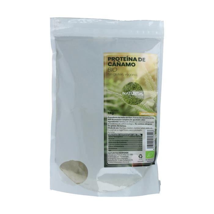 Poudre de protéine de chanvre 1 kg Bio Naturitas - Idéal pour les athlètes - Supersouriment
