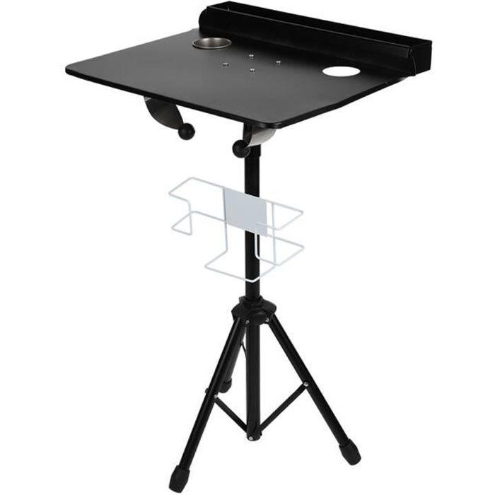 Table ordinateur portable réglable bureau de tatouage de support de station de travail mobile de tatouage détachable