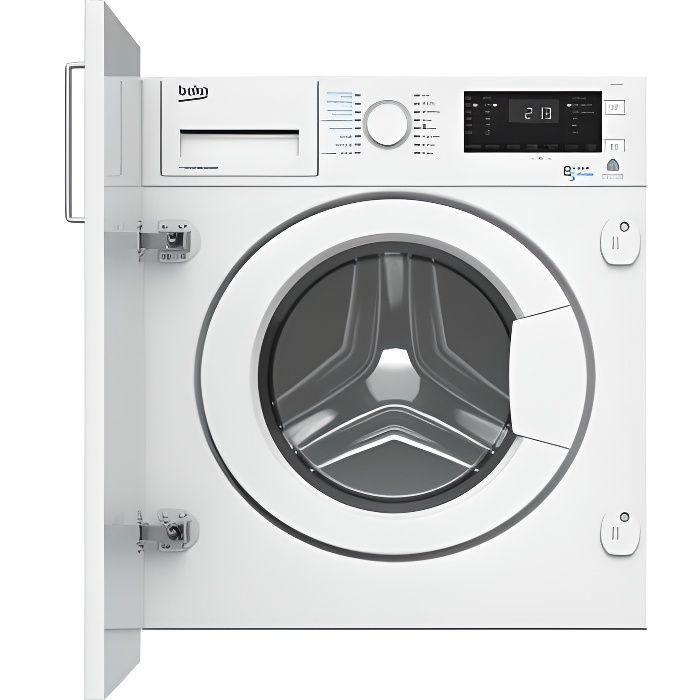 Lave-linge séchant encastrable BEKO WDI8511B0W