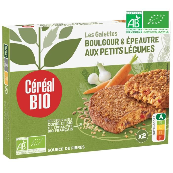 Galettes epeautre légumes bio 200 g Cereal Bio