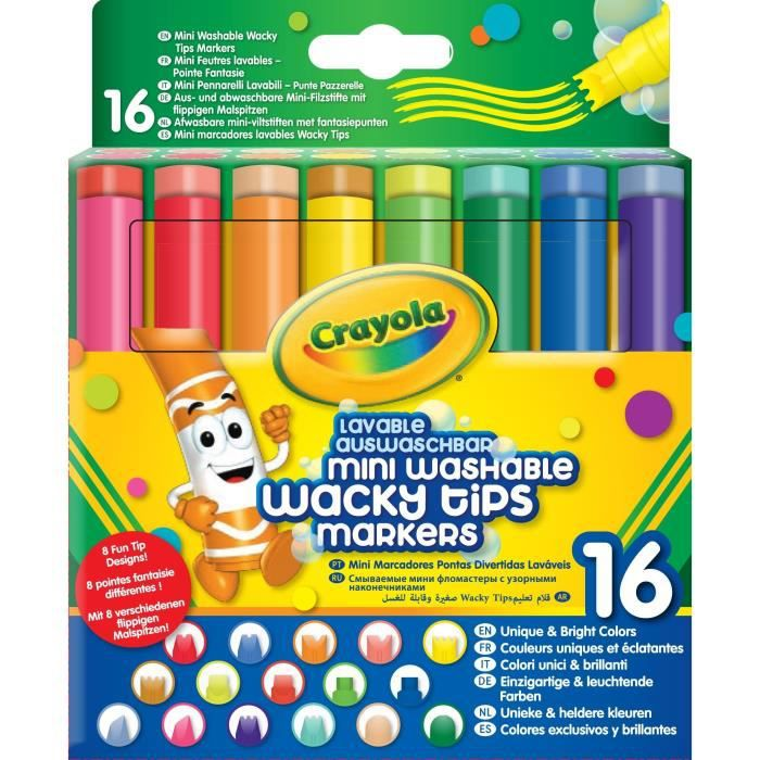 Crayola - 58-8709 - 16 feutres lavables à point…