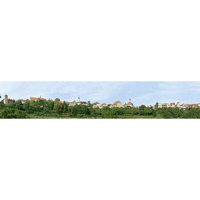 Modélisme - Arrière-plans de modèle : Petite ville
