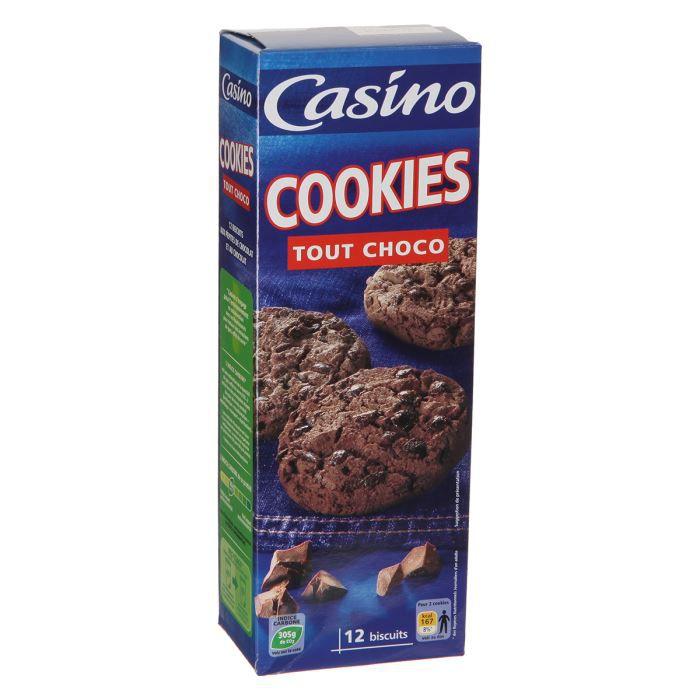CASINO Cookies Tout Choco - 200 g