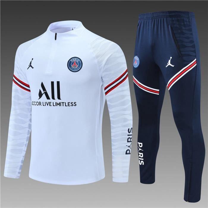 PSG x Jordan 2021 2022 Survêtements Foot Homme Enfants Maillot de Football - Blanc