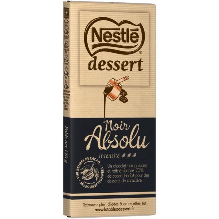 NESTLE DESSERT Chocolat noir absolu - 170 g